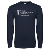 Navy Long Sleeve T Shirt-Student Advising