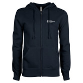 ENZA Ladies Navy Fleece Full Zip Hoodie-Admissions