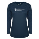 Ladies Syntrel Performance Navy Longsleeve Shirt-Student Advising