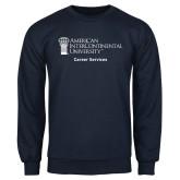 Navy Fleece Crew-Career Services