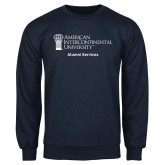 Navy Fleece Crew-Alumni Services