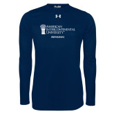 Under Armour Navy Long Sleeve Tech Tee-Admissions