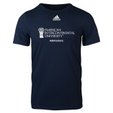 Adidas Navy Logo T Shirt-Admissions