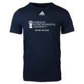 Adidas Navy Logo T Shirt-Career Services