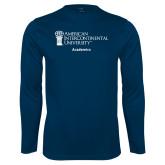 Performance Navy Longsleeve Shirt-Academics