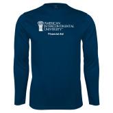 Performance Navy Longsleeve Shirt-Financial Aid