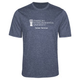 Performance Navy Heather Contender Tee-Career Services