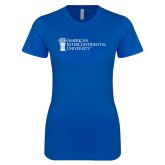 Next Level Ladies SoftStyle Junior Fitted Royal Tee-American Intercontinental University