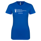 Next Level Ladies SoftStyle Junior Fitted Royal Tee-Admissions