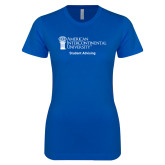 Next Level Ladies SoftStyle Junior Fitted Royal Tee-Student Advising
