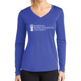 Ladies Syntrel Performance Royal Longsleeve Shirt-American Intercontinental University