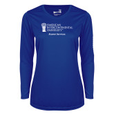 Ladies Syntrel Performance Royal Longsleeve Shirt-Alumni Services