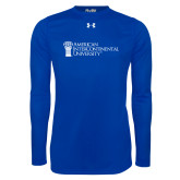 Under Armour Royal Long Sleeve Tech Tee-American Intercontinental University