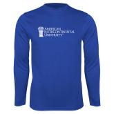 Performance Royal Longsleeve Shirt-American Intercontinental University