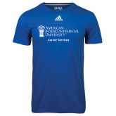 Adidas Climalite Royal Ultimate Performance Tee-Career Services