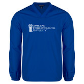 V Neck Royal Raglan Windshirt-American Intercontinental University