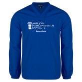 V Neck Royal Raglan Windshirt-Admissions