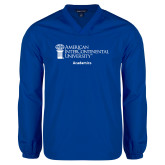 V Neck Royal Raglan Windshirt-Academics