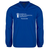 V Neck Royal Raglan Windshirt-Financial Aid