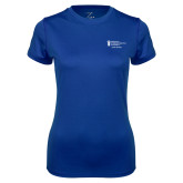 Ladies Syntrel Performance Royal Tee-Career Services