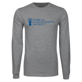 Grey Long Sleeve T Shirt-American Intercontinental University