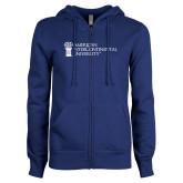 ENZA Ladies Royal Fleece Full Zip Hoodie-American Intercontinental University