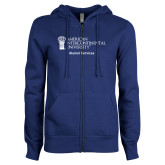 ENZA Ladies Royal Fleece Full Zip Hoodie-Alumni Services