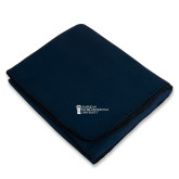 Navy Arctic Fleece Blanket-American Intercontinental University