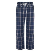Navy/White Flannel Pajama Pant-American Intercontinental University