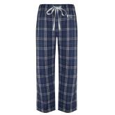 Navy/White Flannel Pajama Pant-Academics