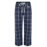 Navy/White Flannel Pajama Pant-Financial Aid