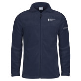 Columbia Full Zip Navy Fleece Jacket-American Intercontinental University