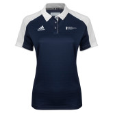 Ladies Adidas Modern Navy Varsity Polo-American Intercontinental University