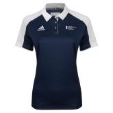 Ladies Adidas Modern Navy Varsity Polo-Student Advising