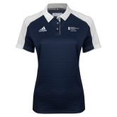 Ladies Adidas Modern Navy Varsity Polo-Career Services