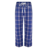 Royal/White Flannel Pajama Pant-Admissions