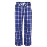 Royal/White Flannel Pajama Pant-Academics