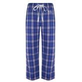 Royal/White Flannel Pajama Pant-Student Advising
