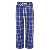 Royal/White Flannel Pajama Pant-Career Services