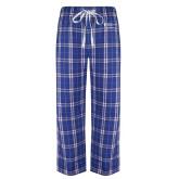 Royal/White Flannel Pajama Pant-Alumni Services