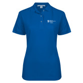 Ladies Easycare Royal Pique Polo-Academics