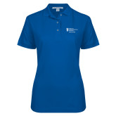 Ladies Easycare Royal Pique Polo-Student Advising