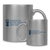 Full Color Silver Metallic Mug 11oz-American Intercontinental University