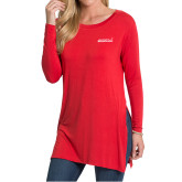 Ladies Red Side Slit Tunic-Primary Mark
