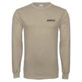 Khaki Gold Long Sleeve T Shirt-Primary Mark