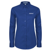 Ladies Royal Twill Button Down Long Sleeve-Primary Mark