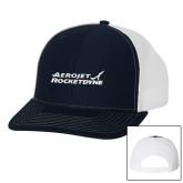 Richardson Navy/White Trucker Hat-Primary Mark