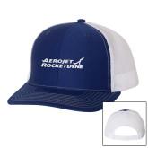 Richardson Royal/White Trucker Hat-Primary Mark