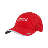 Nike Dri Fit Red Perforated Hat-Primary Mark