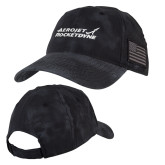 Kryptek Typhon Black U.S. Flag Hat-Primary Mark